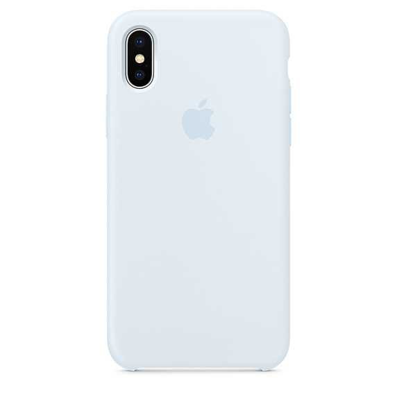 iPhone X Silicone Case - Sky Blue - Apple