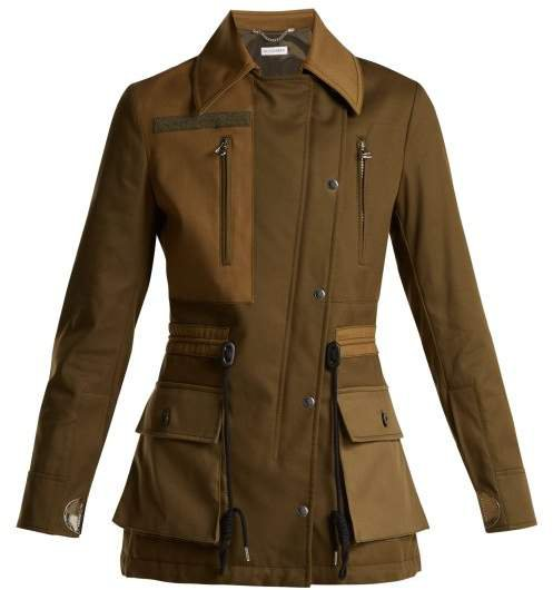 Chet Quilted Cotton Coat - Womens - Dark Green