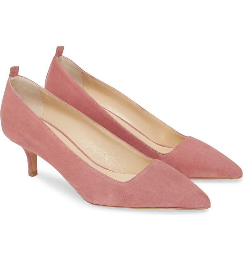 Everlane The Editor Pointed Toe Kitten Heel Pump (Women) | Nordstrom