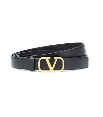 Valentino Garavani Go Logo leather belt