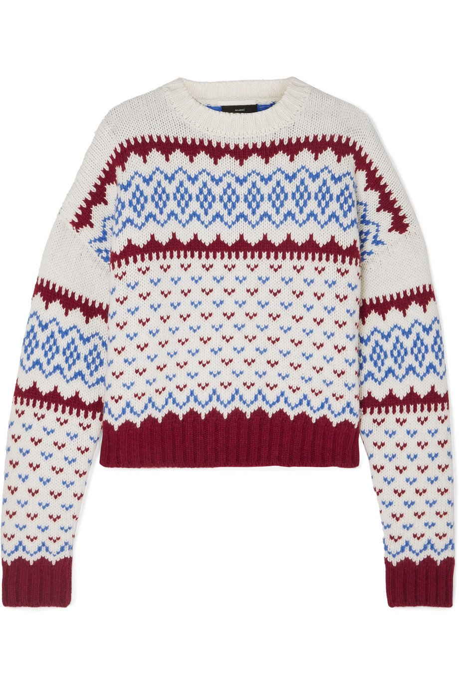 Alanui | Fair Isle wool and cashmere-blend sweater | NET-A-PORTER.COM