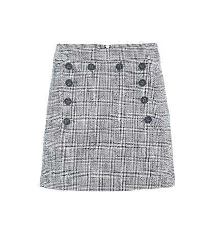 Maida checked tweed miniskirt