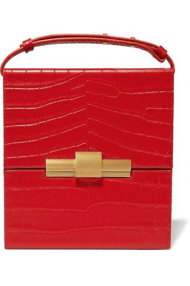 Bottega Veneta | Daisey croc-effect leather shoulder bag | NET-A-PORTER.COM