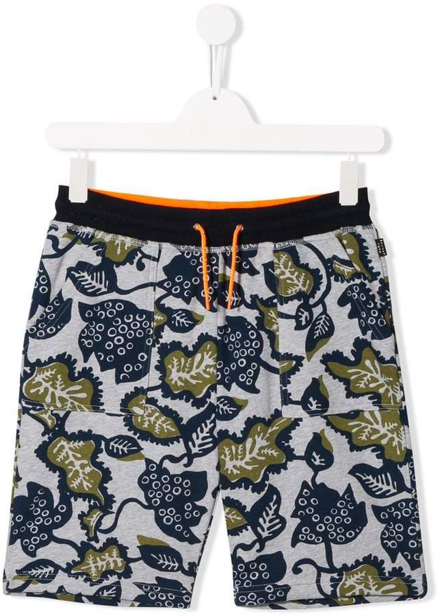 floral camouflage shorts
