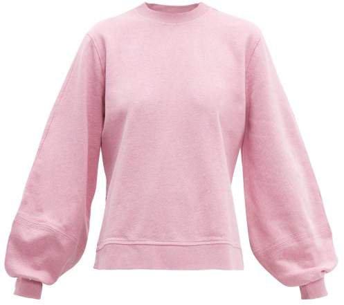 Isoli Balloon Sleeved Cotton Sweatshirt - Womens - Pink