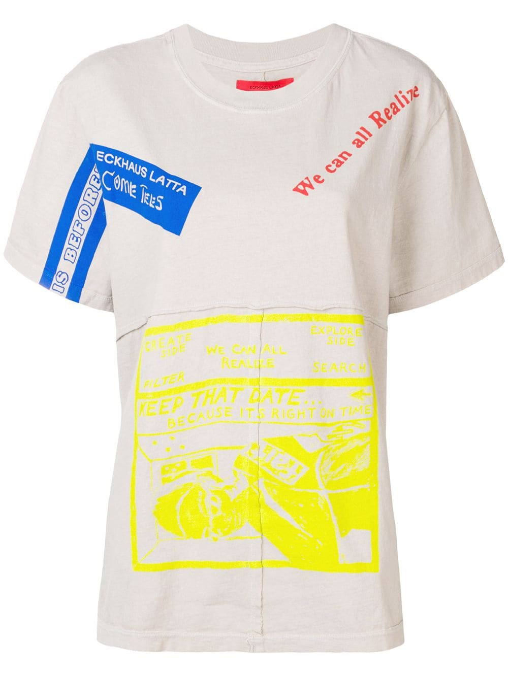 Eckhaus Latta We Can All Realize T-shirt $99 - Buy Online - Mobile Friendly, Fast Delivery, Price