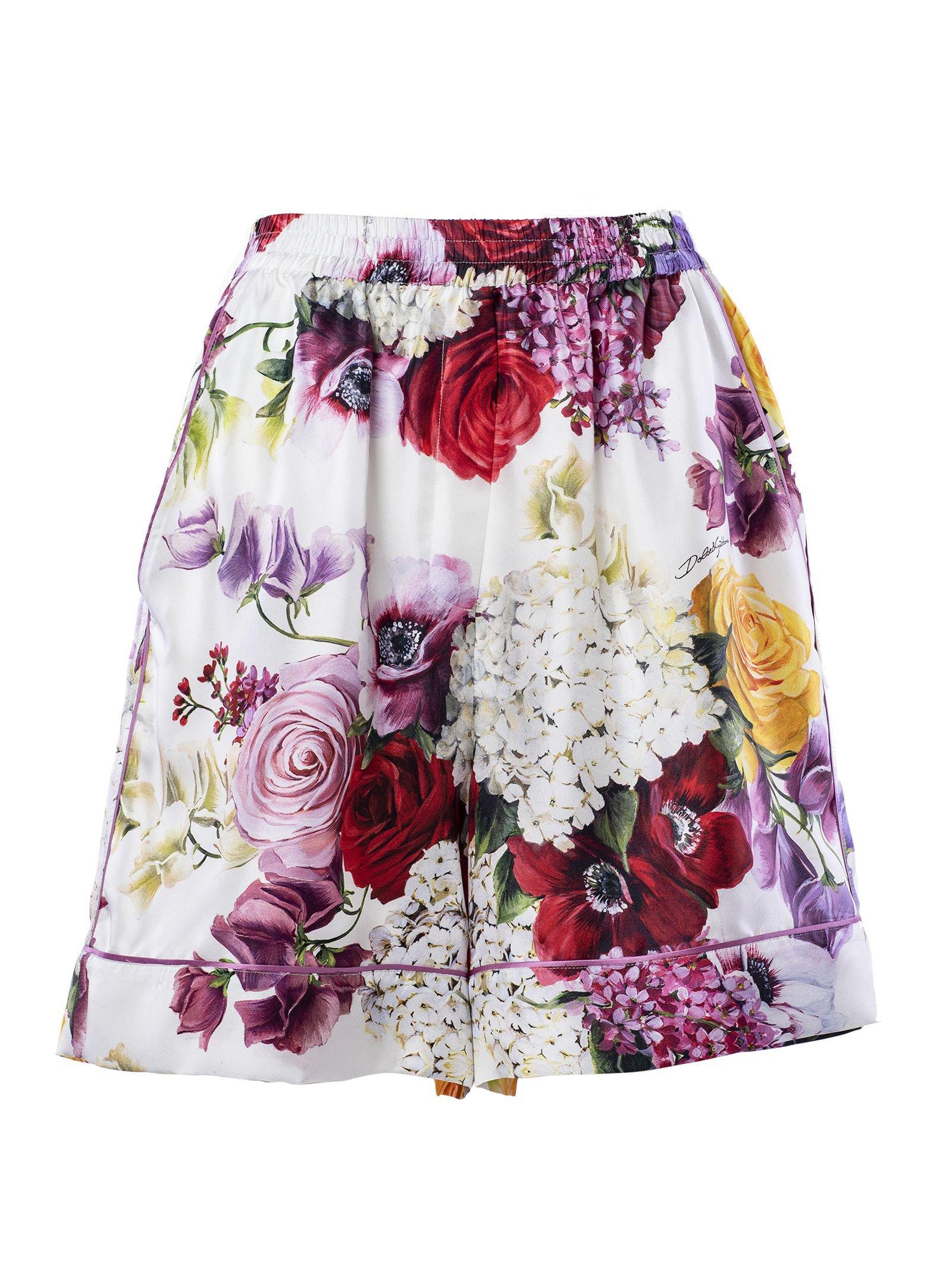Dolce & Gabbana Floral Print Shorts
