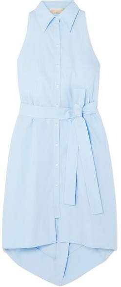 Cotton-poplin Dress - Light blue