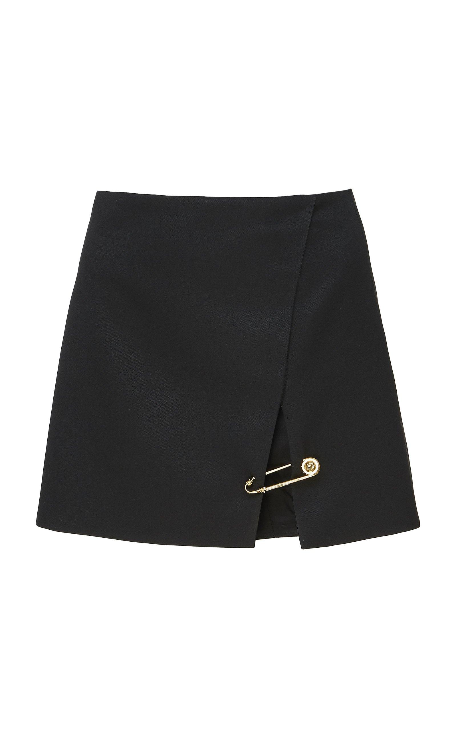 Embellished Wool Mini Skirt by Versace | Moda Operandi