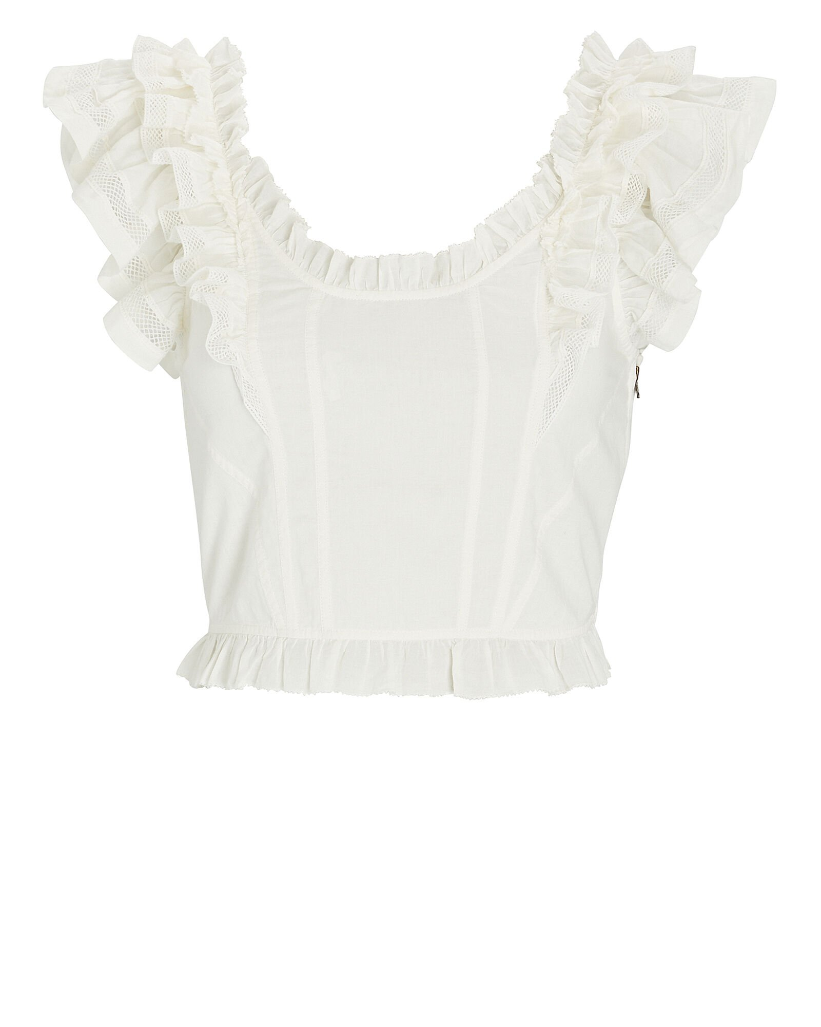 Ulla Johnson Leona Corset-Back Crop Top | INTERMIX®