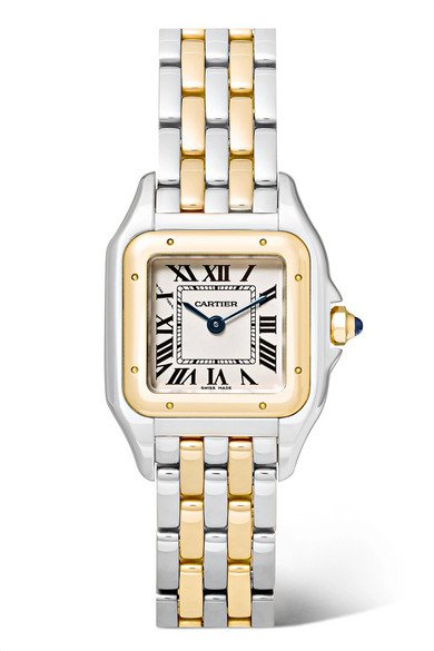 Cartier | Panthère de Cartier 22mm small 18-karat gold and stainless steel watch | NET-A-PORTER.COM