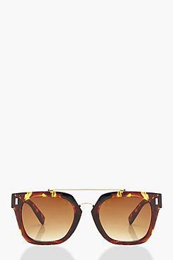 Emily Square Frame Brow Bar Sunglasses