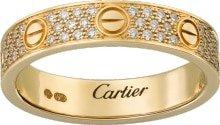 CRB4083300 - Fede LOVE con pavé - Oro giallo, diamanti - Cartier