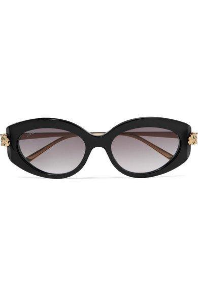 Cartier | Round-frame acetate and gold-tone sunglasses | NET-A-PORTER.COM