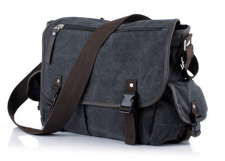 black canvas mens shoulder bag TowliTa
