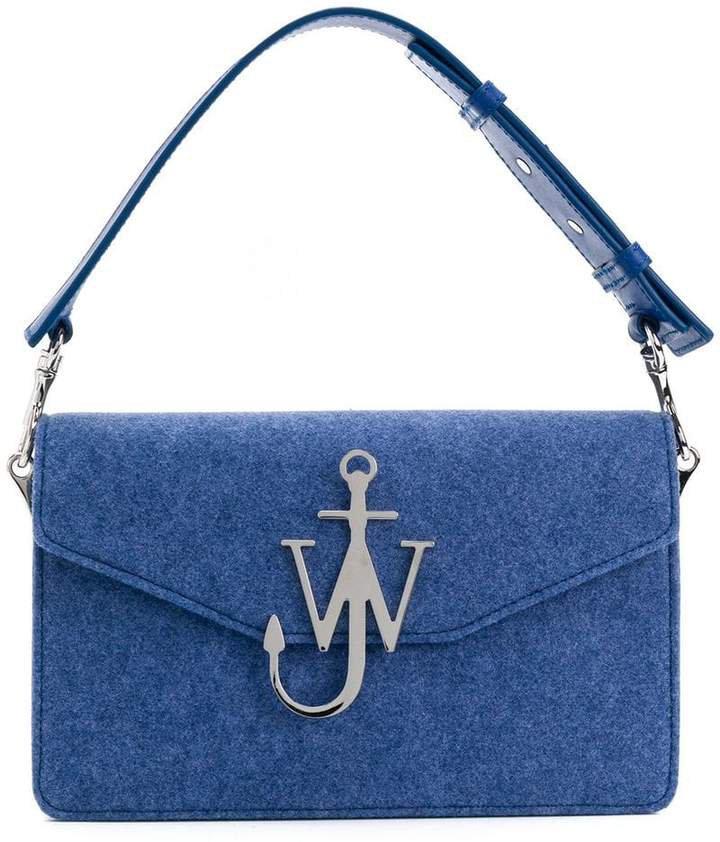 felt logo purse