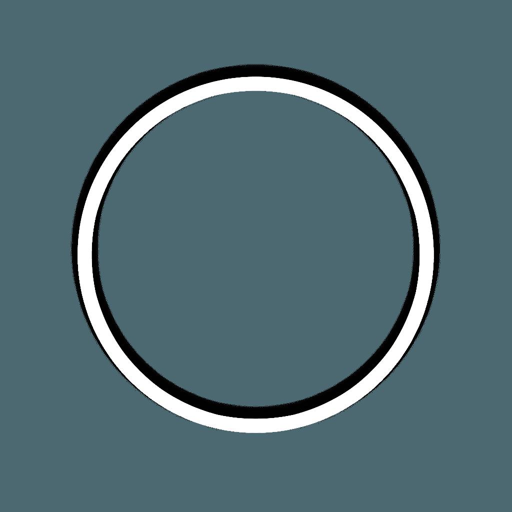 C⃝I⃝R⃝C⃝L⃝E⃝ circle white frame...