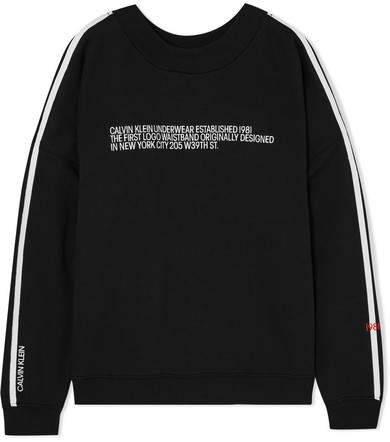 Statement 1981 Embroidered Cotton-blend Jersey Sweatshirt - Black