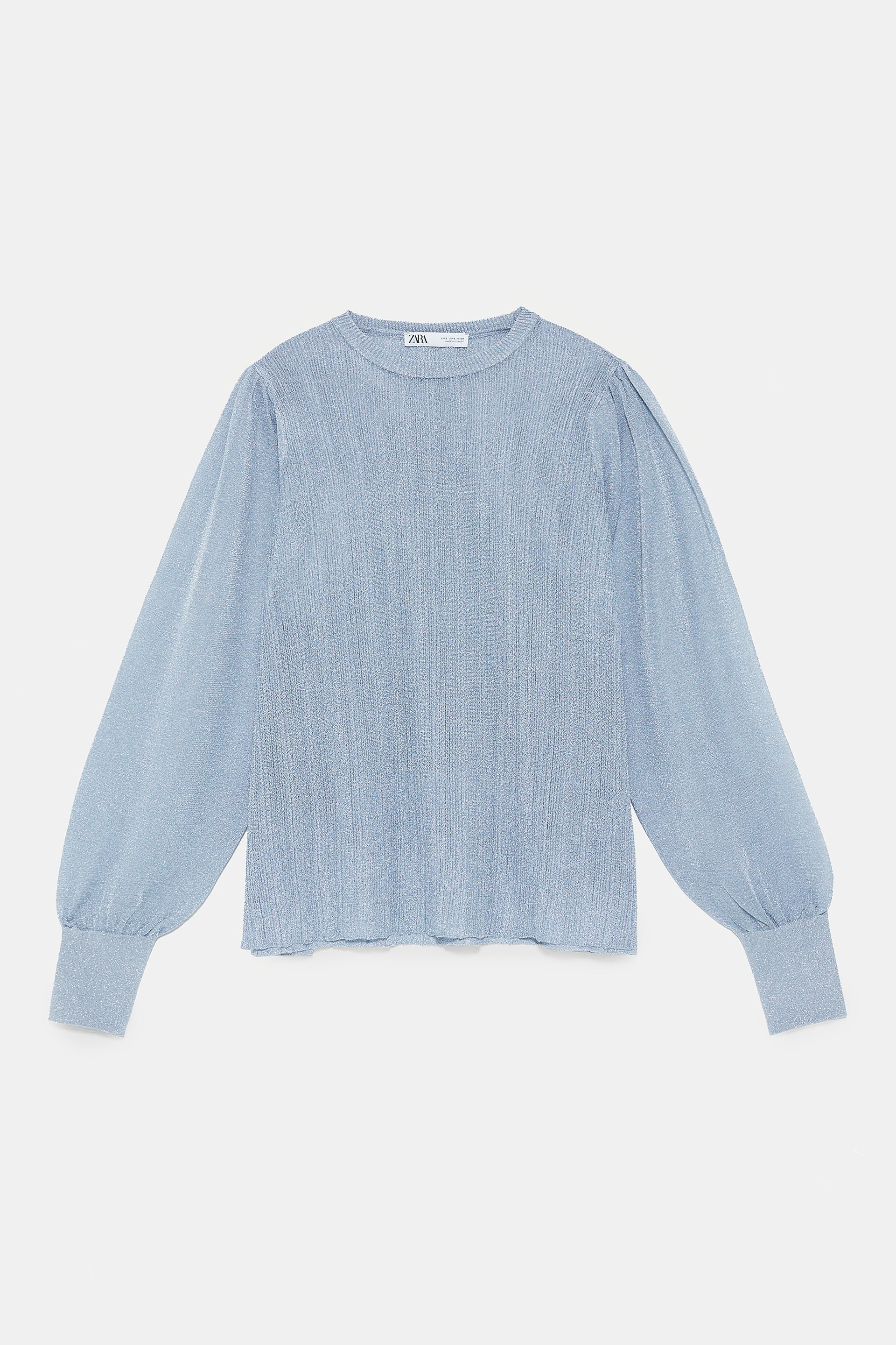 SPARKLY KNIT BLOUSE - View all-KNITWEAR-WOMAN | ZARA United States