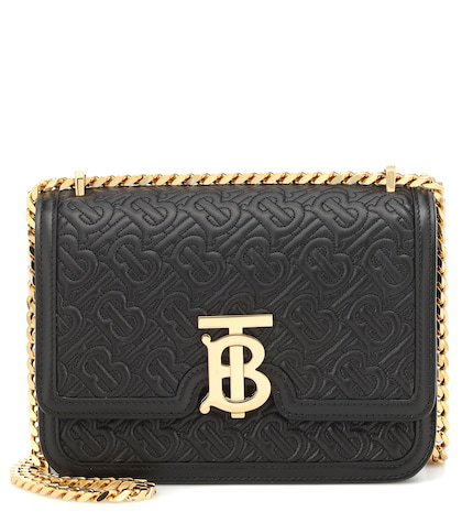 TB Small leather shoulder bag
