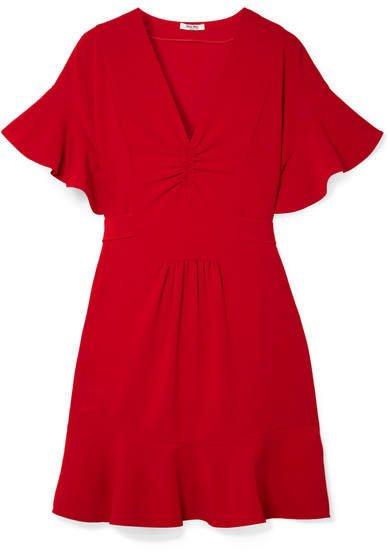 Ruffled Cady Dress - Red