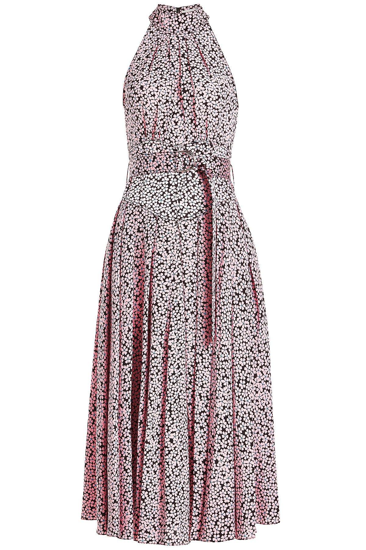 Printed Silk Halter Dress Gr. US 4