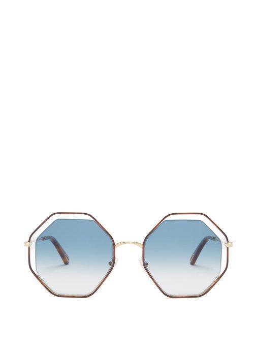 Poppy octagonal-framed sunglasses   Chloé   MATCHESFASHION.COM