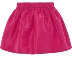 Gathered Faille Mini Skirt