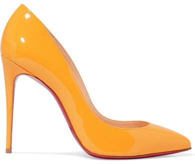 Pigalle Follies 100 Patent-leather Pumps - Yellow