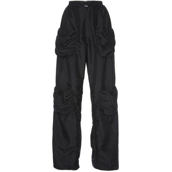 J.W. Anderson Black Cargo Sport Trouser