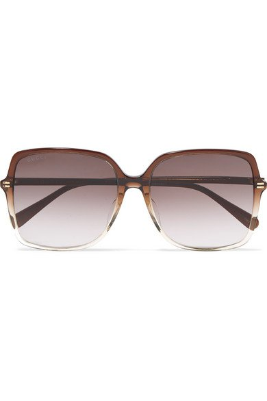 Gucci | Oversized square-frame acetate sunglasses | NET-A-PORTER.COM