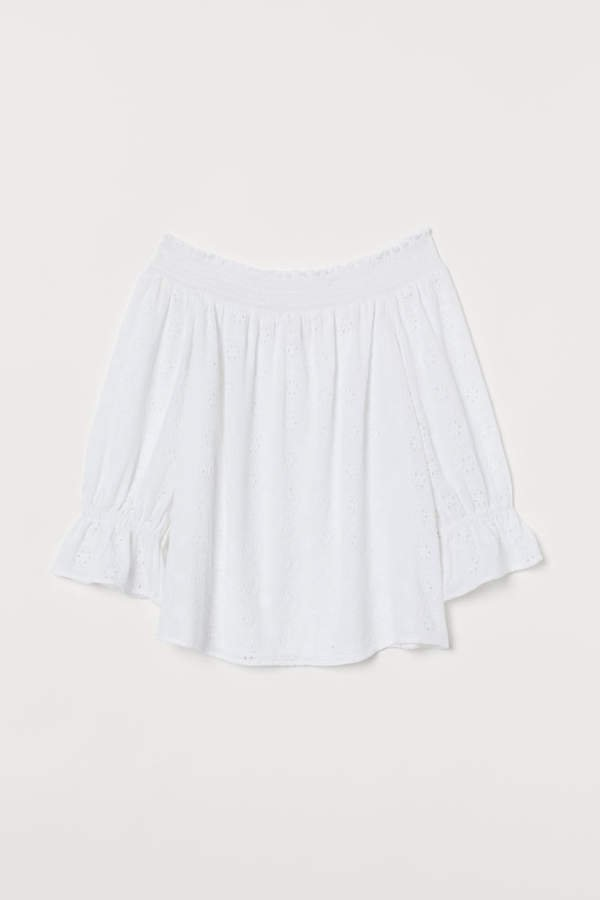 Off-the-shoulder Blouse - White