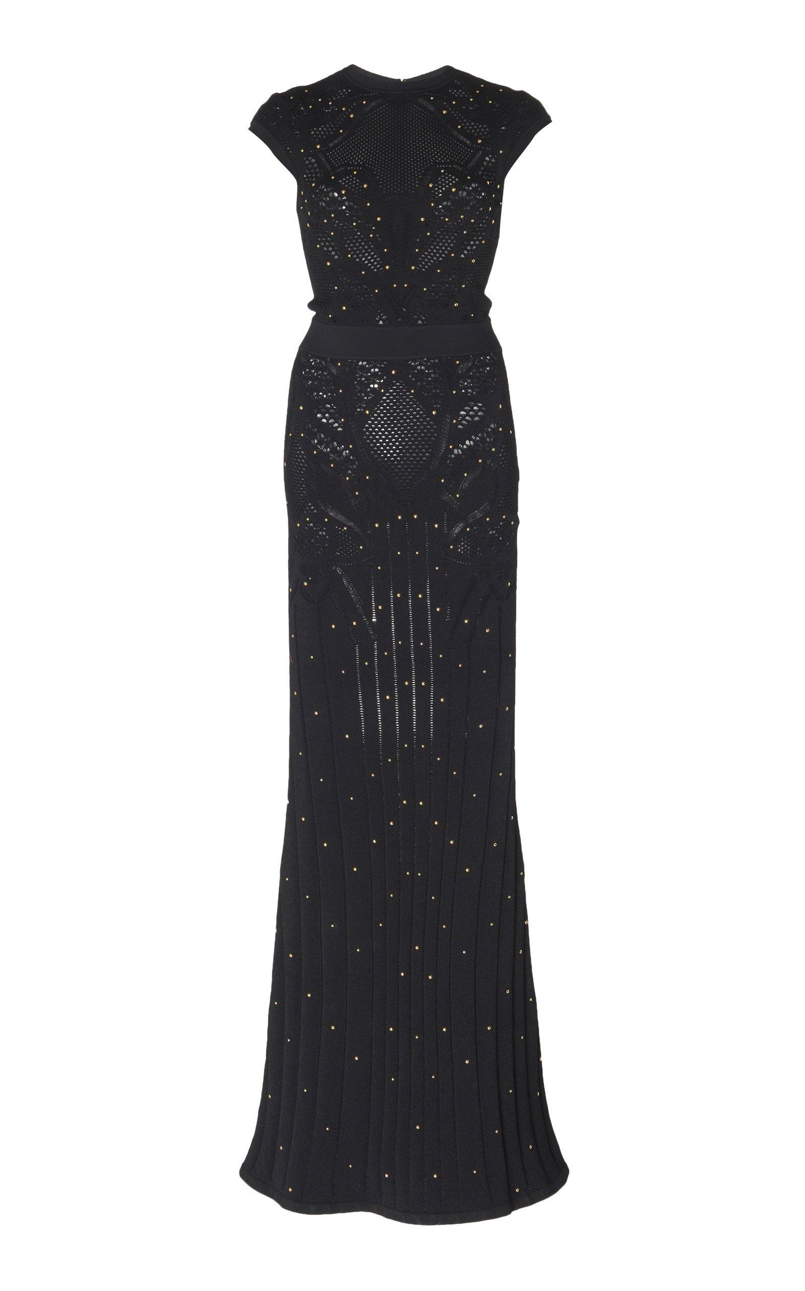 Zuhair Murad Pamplona Embellished Open-Knit Dress