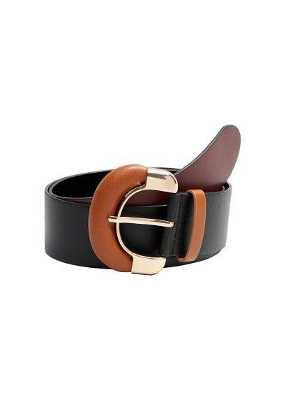 MANGO Contrasting buckle belt