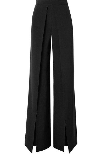 Cushnie   Pleated silk-crepe wide-leg pants   NET-A-PORTER.COM