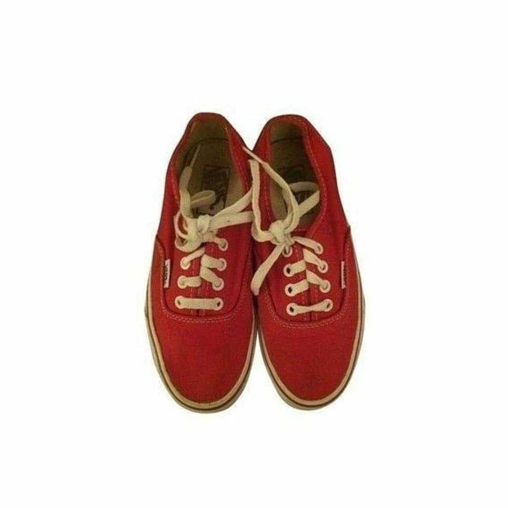Red Vintage Sneakers - @byepolyvore PNG Collection