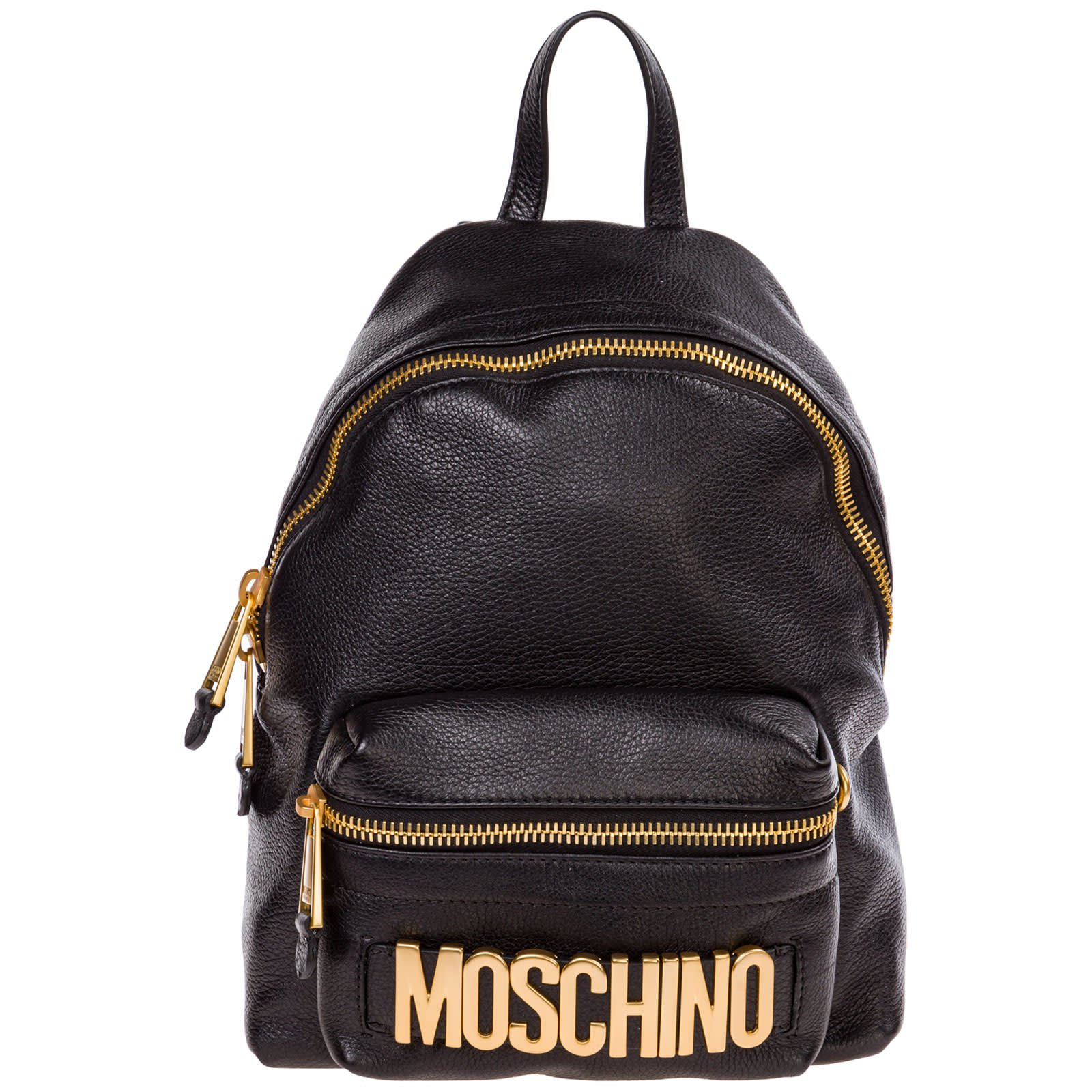 Moschino Leather Rucksack Backpack Travel