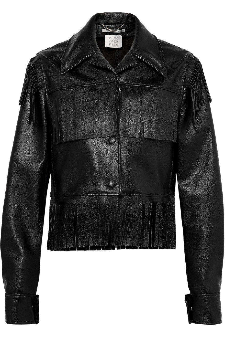Stella McCartney | Fringed faux textured-leather jacket | NET-A-PORTER.COM