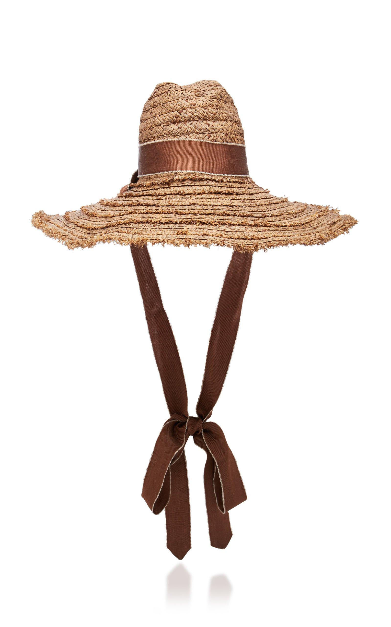 Mauritius Grosgrain-Trimmed Straw Hat by Filu Hats | Moda Operandi