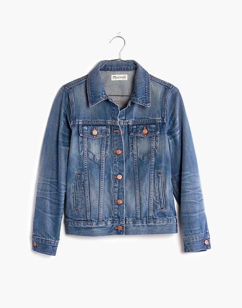 Women's Jean Jacket in Pinter Wash | Madewell blue