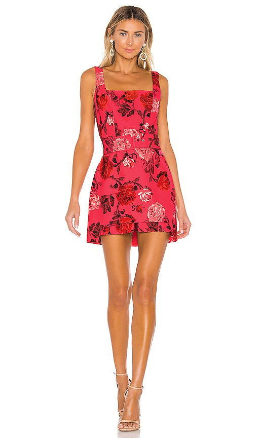 C/MEO Variation Mini Dress in Hot Pink Rose | REVOLVE