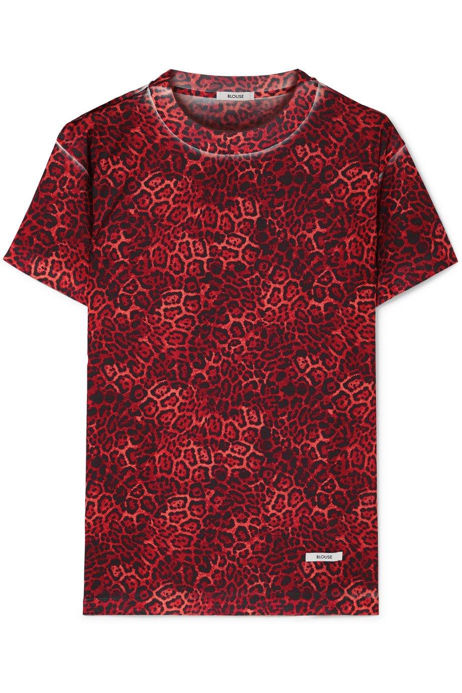 BLOUSE | Castiglione leopard-print jersey T-shirt | NET-A-PORTER.COM