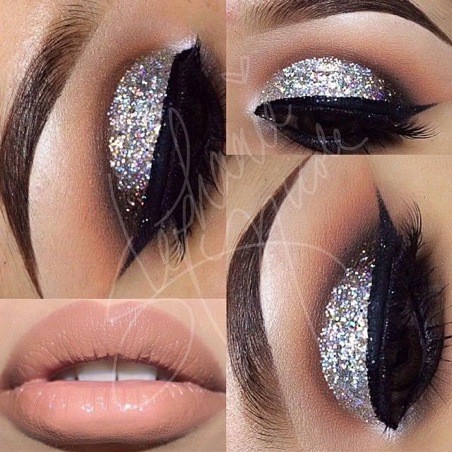 Shimmer-Eye-Makeup-and-Nude-Lip.jpg (640×640)