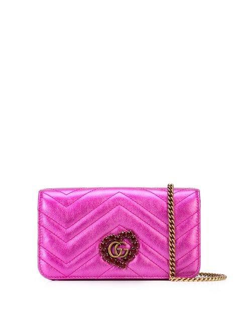 Gucci Quilted Metallic Shoulder Bag - Farfetch