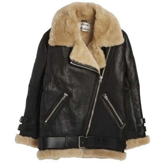 Acne Leather Shearling Jacket