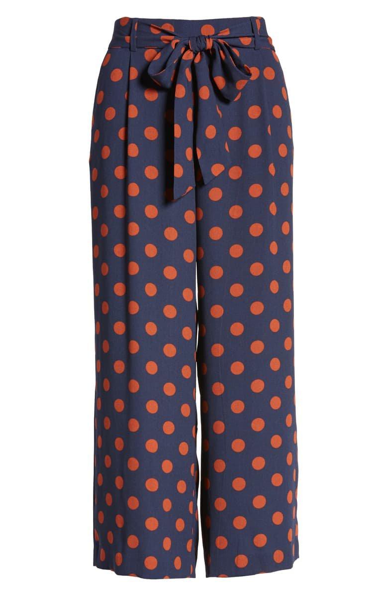 Halogen® Wide Leg Crop Pants (Regular & Petite) blue orange