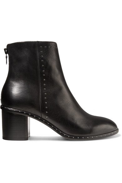 rag & bone | Willow studded leather ankle boots | NET-A-PORTER.COM
