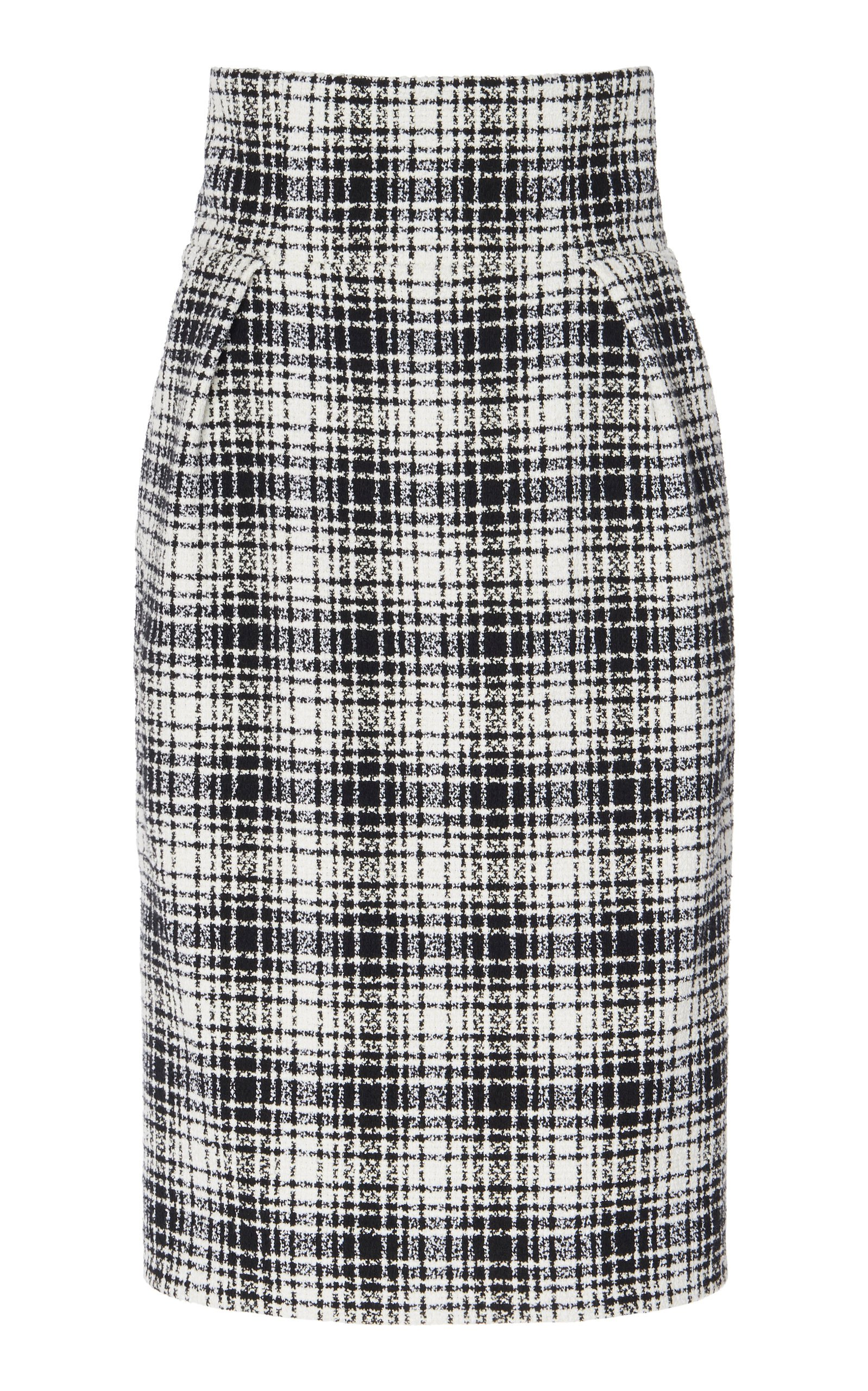Alexandre Vauthier Plaid Cotton-Blend Pencil Skirt Size: 40
