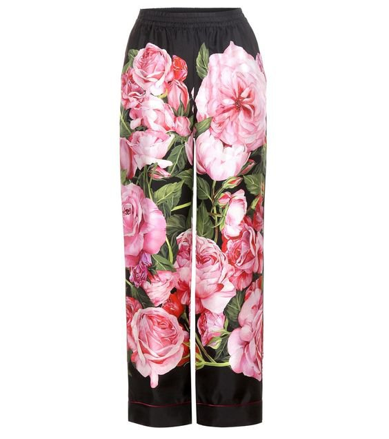Dolce & Gabbana - Floral-printed silk trousers