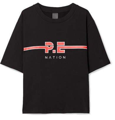 The Dartford Printed Cotton-jersey T-shirt - Black